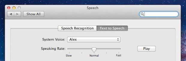 OS X Lion includes high quality text to speech voices