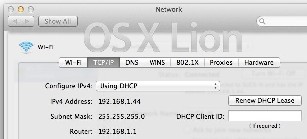 Fixes for OS X Lion wifi dropping