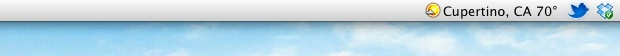 Weather and Temperature in the Mac OS X Menu Bar