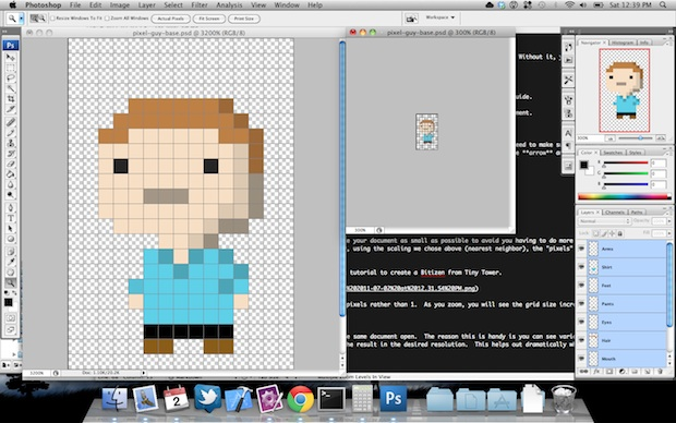 Create pixel art in Photoshop