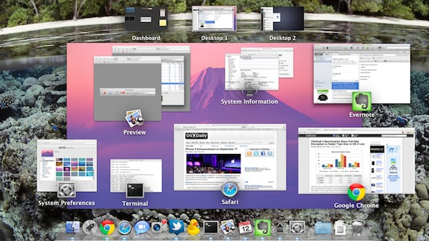 Change Mission Control background in Mac OS X