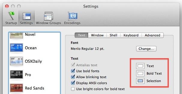 Change Terminal text color
