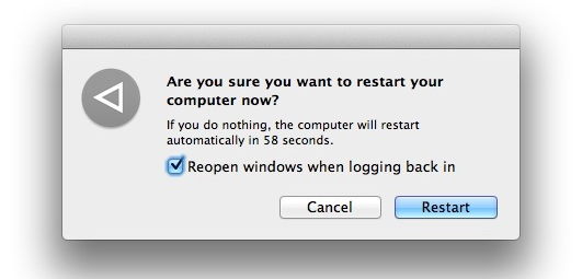 Disable Reopen Windows when Logging In