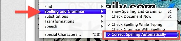 Disable Spelling Auto Correct in Safari under Mac OS X