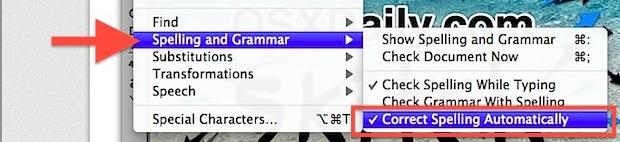 Disable Spelling Auto Correct in Safari under Mac OS X