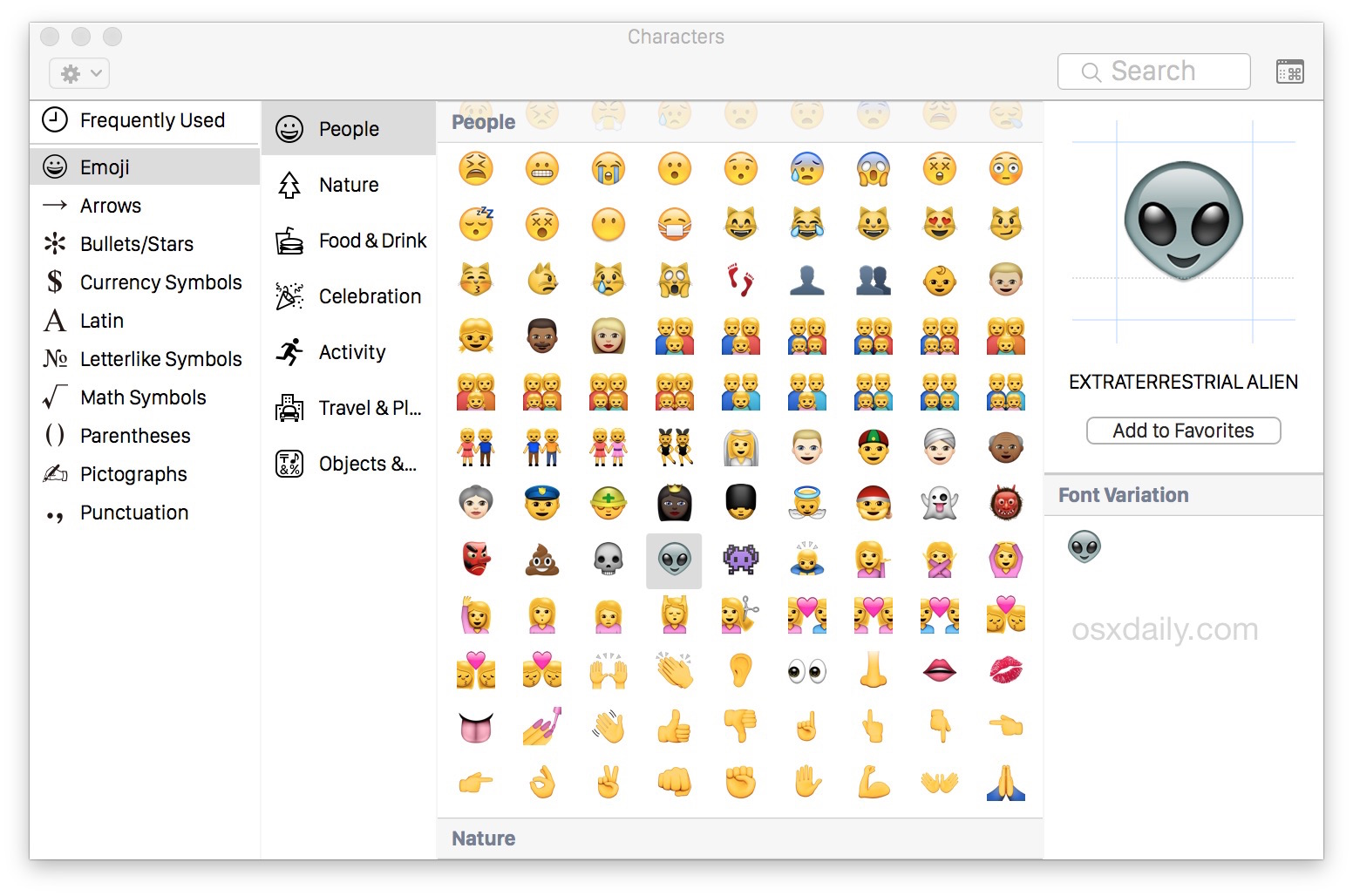 Emoji on the Mac