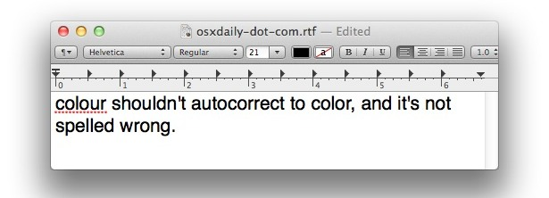 Fix spelling autocorrects language priority in Mac OS X Lion