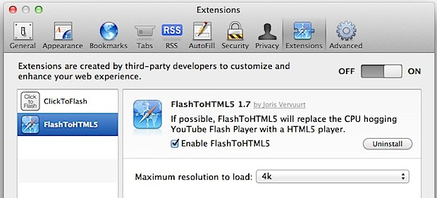 Flash to HTML5 Video Player for Mac OS X