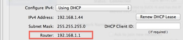 Get WiFi Router IP Address in Mac OS X