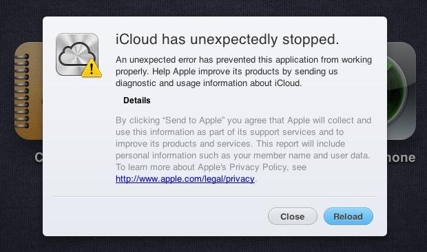 iCloud error