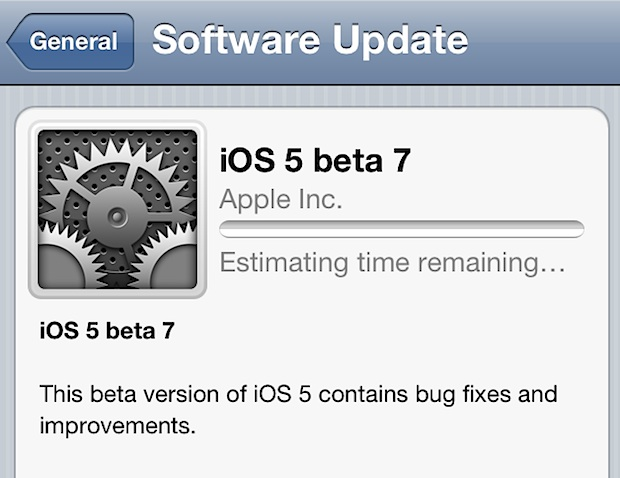 iOS 5 beta 7 released for download