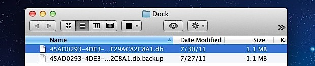 MacOS X Launchpad database files