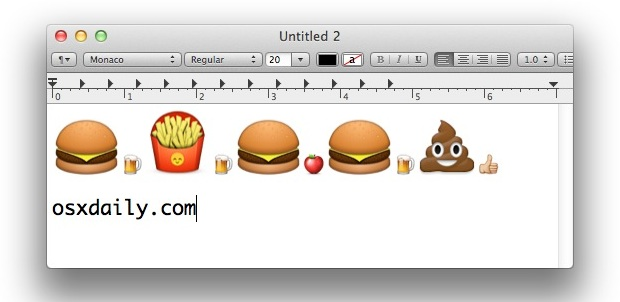 How to access, use, and type Emoji in Mac OS X