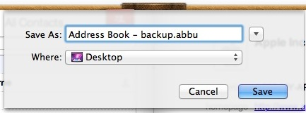 Backup Address Book in Mac OS X