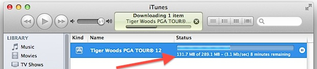 Check download speed from iTunes App Store