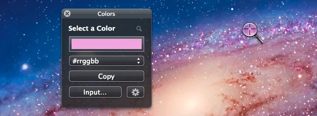 Color Picker tool for Mac OS X Lion