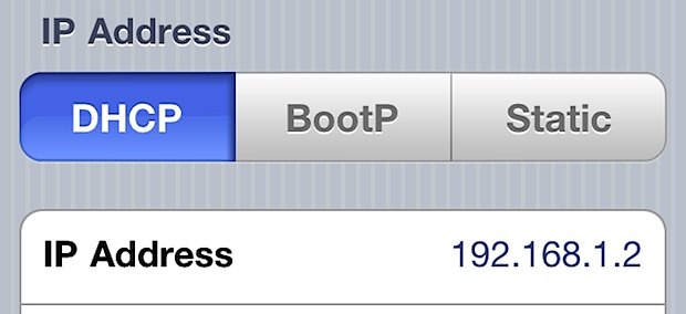 Find an IP Address on the iPhone or iPad
