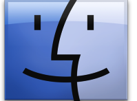 The Finder icon of Mac OS X