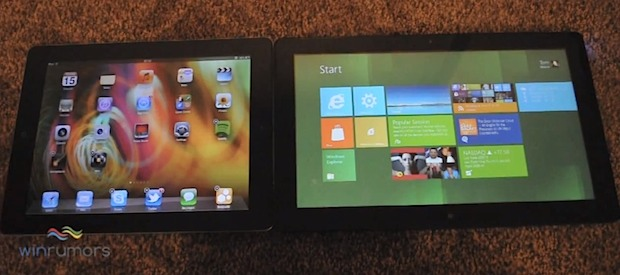 iPad 2 and iOS 5 vs Windows 8 Tablet
