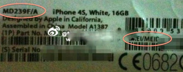 iPhone 4S Label