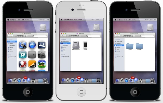 Mac OS X Lion iPhone Theme