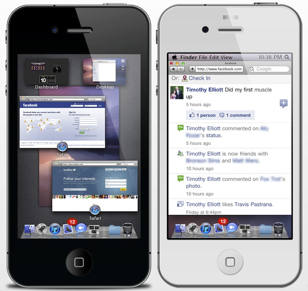 Mac OS X Theme for iPhone