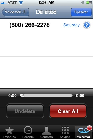 Recover deleted iPhone voicemail messages