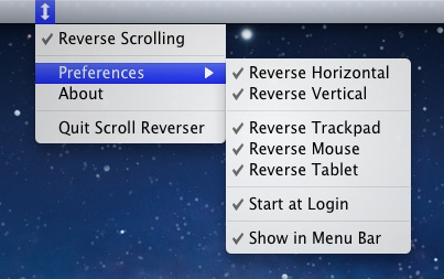 Reverse Horizontal Scrolling to be Natural in Mac OS X