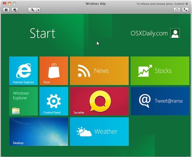 Install & Run Windows 8 in a Virtual Machine Using VMWare in Mac OS X |  OSXDaily
