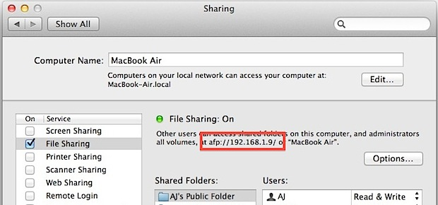 Share files from a Mac to Windows PC