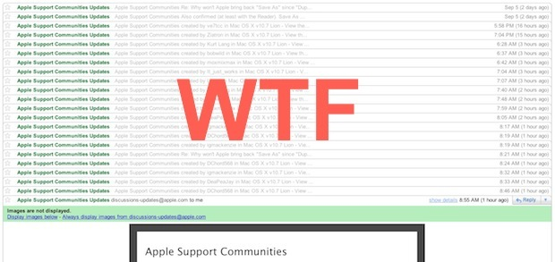 Stop Apple Support Community Emails