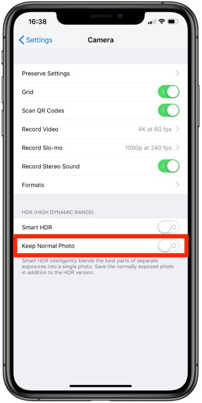 How to stop iPhone camera taking two photos