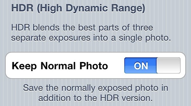Stop iPhone HDR from taking and storing two pictures