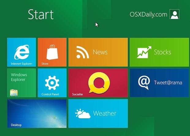 Windows 8 in VirtualBox