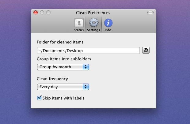 automatically clean up the Mac Desktop