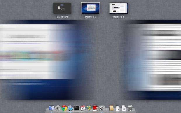 Motion Blur in Mission Control on Mac OS X Lion