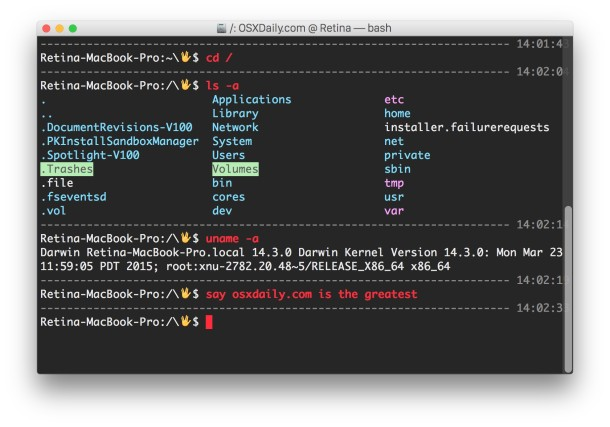 Vulcan prompt and a divider between commands in OS X Terminal