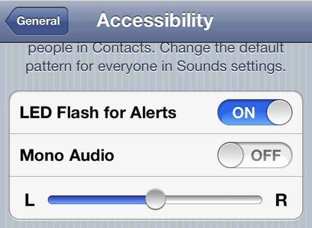 Flash the iPhones camera LED light on incoming calls or messages