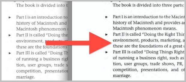 Increase the contrast of a PDF to make the text more readable