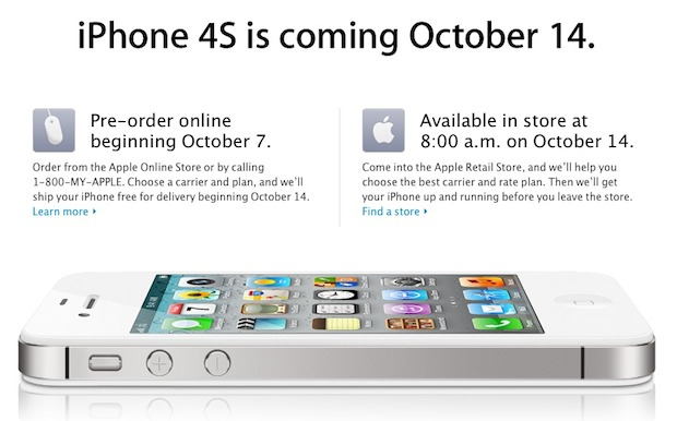 iPhone 4S release date