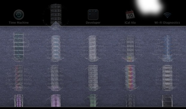 Motion blur in Launchpad folders