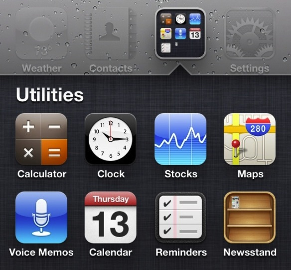 Newsstand in Folder