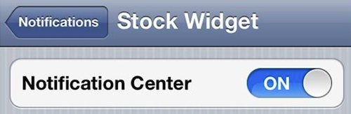 Remove the Stock Ticker in iOS 5