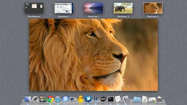 Set Different Wallpapers for Desktop Spaces in OS X Lion