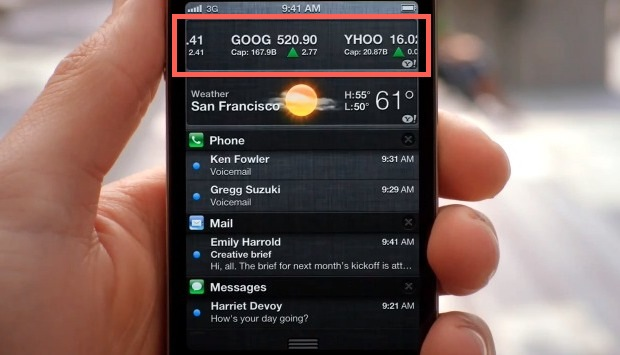 iOS 5 Stock Ticker
