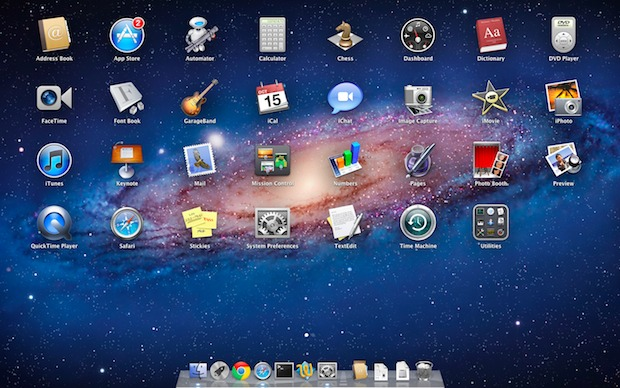 Unblur Launchpad background Mac OS X Lion