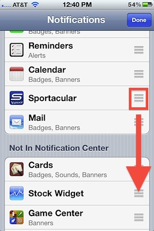 Add or Remove Apps in Notification Center