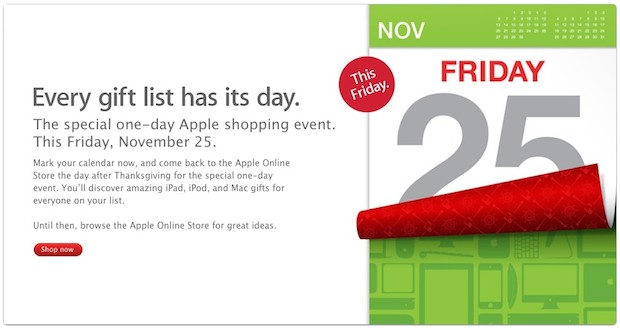 Apple's Black Friday 2011 Sale announced