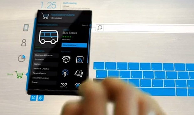 Blackberry imagines a touch hologram