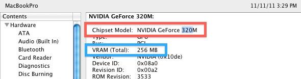 Check Mac GPU info